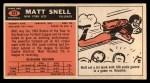 1965 Topps #127   Matt Snell Back Thumbnail