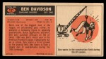 1965 Topps #137  Ben Davidson  Back Thumbnail