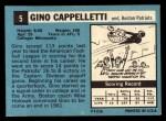 1964 Topps #5   Gino Cappalletti Back Thumbnail