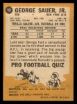 1967 Topps #101  George Sauer  Back Thumbnail