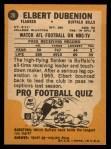 1967 Topps #20  Elbert Dubenion  Back Thumbnail