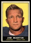 1961 Topps #34   Jim Martin Front Thumbnail