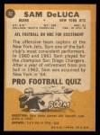 1967 Topps #92  Sam DeLuca  Back Thumbnail