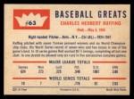 1960 Fleer #63   Red Ruffing Back Thumbnail