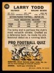 1967 Topps #108   Larry Todd Back Thumbnail