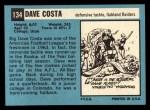1964 Topps #134   Dave Costa Back Thumbnail