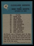 1964 Philadelphia #42   -  Blanton Collier  Cleveland Browns Back Thumbnail