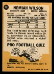 1967 Topps #30  Nemiah Wilson  Back Thumbnail