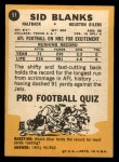 1967 Topps #51  Sid Blanks  Back Thumbnail