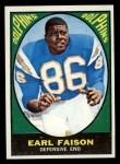 1967 Topps #75   Earl Faison Front Thumbnail