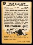 1967 Topps #40  Max Leetzow  Back Thumbnail