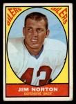 1967 Topps #52  Jim Norton  Front Thumbnail