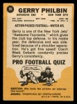 1967 Topps #99   Gerry Philbin Back Thumbnail