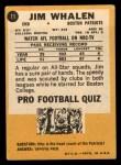 1967 Topps #11  Jim Whalen  Back Thumbnail