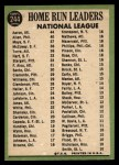 1967 Topps #244  1966 NL Home Run Leaders  -  Hank Aaron / Dick Allen / Willie Mays Back Thumbnail