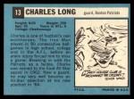 1964 Topps #13   Charles Long Back Thumbnail