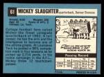 1964 Topps #61  Mickey Slaughter  Back Thumbnail