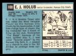 1964 Topps #100   EJ Holub Back Thumbnail