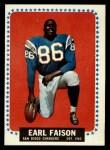 1964 Topps #157   Earl Faison Front Thumbnail
