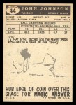 1959 Topps #44  John Henry Johnson  Back Thumbnail