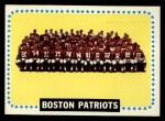 1964 Topps #21  Boston Patriots  Front Thumbnail