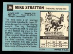 1964 Topps #39  Mike Stratton  Back Thumbnail