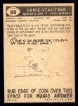 1959 Topps #69  Ernie Stautner  Back Thumbnail