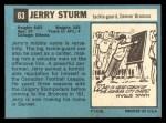 1964 Topps #63  Jerry Sturm  Back Thumbnail