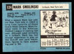 1964 Topps #124   Mark Smolinski Back Thumbnail