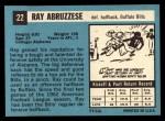 1964 Topps #22  Ray Abruzzese  Back Thumbnail