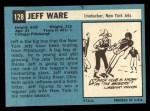 1964 Topps #128  Jeff Ware  Back Thumbnail