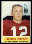 1964 Philadelphia #174  Charley Johnson   Front Thumbnail
