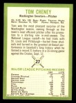 1963 Fleer #27   Tom Cheney Back Thumbnail
