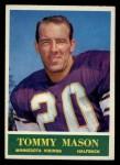1964 Philadelphia #105  Tommy Mason   Front Thumbnail