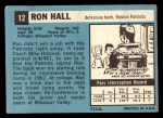 1964 Topps #12  Ron Hall  Back Thumbnail