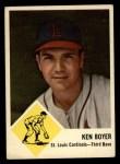 1963 Fleer #60   Ken Boyer Front Thumbnail
