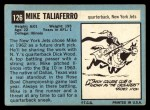 1964 Topps #126   Mike Taliaferro Back Thumbnail