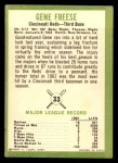 1963 Fleer #33  Gene Freese  Back Thumbnail