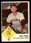 1963 Fleer #66   Billy O'Dell Front Thumbnail