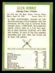 1963 Fleer #31  Glen Hobbie  Back Thumbnail