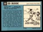 1964 Topps #93  Ed Budde  Back Thumbnail