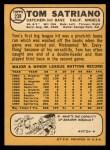 1968 Topps #238   Tom Satriano Back Thumbnail