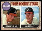 1968 Topps #76  Braves Rookies  -  Ron Reed / Jim Britton Front Thumbnail