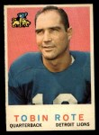 1959 Topps #170   Tobin Rote Front Thumbnail