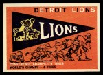 1959 Topps #139   Lions Team Checklist Front Thumbnail
