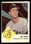 1963 Fleer #10   Jim Landis Front Thumbnail