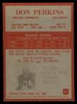 1965 Philadelphia #52   Don Perkins  Back Thumbnail