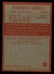 1965 Philadelphia #75  Forrest Gregg   Back Thumbnail