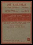 1965 Philadelphia #157   Joe Childress  Back Thumbnail