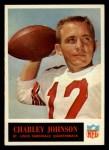 1965 Philadelphia #163   Charley Johnson  Front Thumbnail